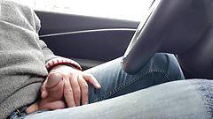 Autofahrt mit Schwanz  horny car