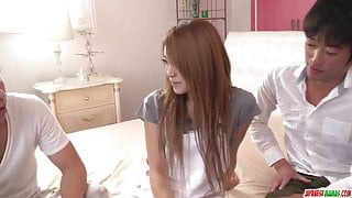 Reina Oomori makes out with two  - More at Japanesemamas.com