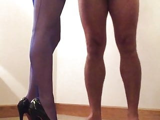 Ff porn Blue ffs nylon stockings wife handjob