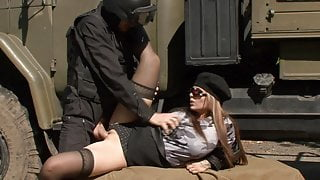 Black Stockings & Boots DOMINNO Outdoor Fucking