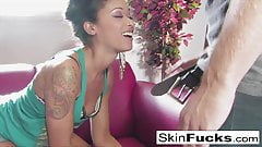 Skin Diamond playing with her wet pussy