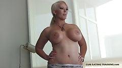 Lick your cum off my big tits CEI