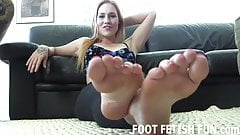 You will clean my stinky feet for me