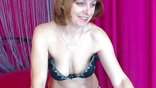 mature lady strips and plays