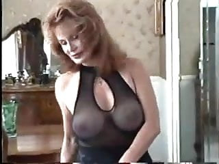 Vintage 50 s toys 50s milf shows off her body in black lingerie