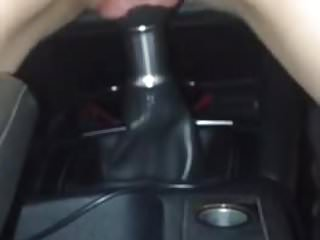 Girl fucking car stick shift gear Fuck a gear stick