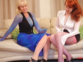 Free xxx naughty video - Red xxx and her girlfriend get naughty in nylons