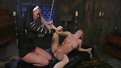 Tied Up Ariel X Strapon Fucked In The Ass