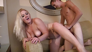 Thick blonde girlfriend is craving a good pounding