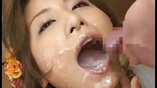 Marin - Bukkake Cum In Mouth