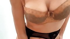 Extra horny slutty girl fucks her dripping pussy with a toy