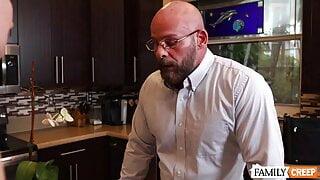 Stepdaddy's Secret Is Kept With Blowjob & Fucking