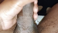 Intens stroking my little dick tip and cum