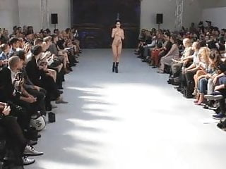 Iranian nude models - Sexy nude in public catwalk model fashion show