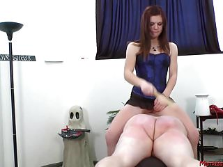 Male/male erotic spanking Hot mix of femdom mistress tormenting male slaves