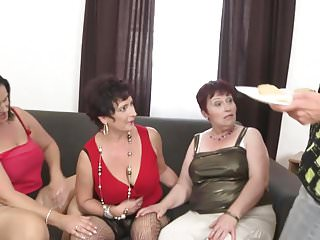 Young with mature - Taboo group sex with mature moms and granny