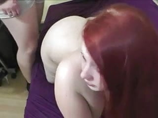 Anal cream pie shots Fat redhead anal cream pie