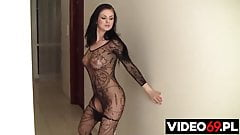 Niezwykle seksowny taniec i zabawa z wibratorem