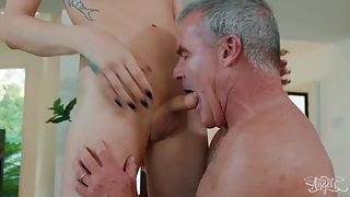 Casey Kisses Dale Savage - Cumming Home - Transangels