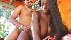Hung black dude drills hot black sluts asshole