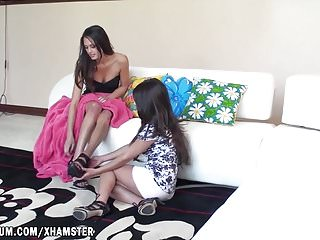 Tattoo rose on boob Tiffany thompson and layla rose have a great masturbation.