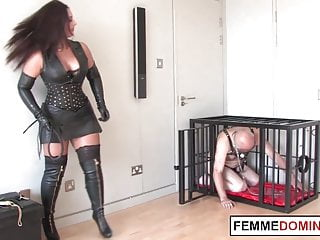 Closed casket bondage dominatrix Brit dominatrix whips mercilessly naughty slave