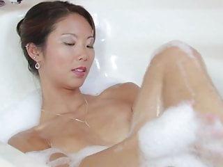 Sex moves for the bathtub Asian honey with perky tits masturbates in the bathtub