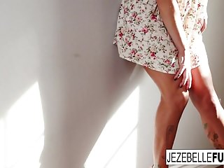 Jezebelle bond anal megaupload - Tattooed brunette jezebelle bond teases and fingers herself