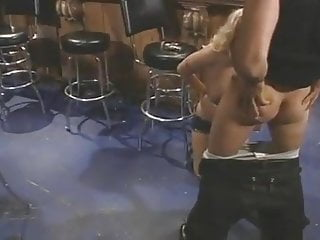 Brunette big tits bartender Brittney, the hot bartender, gets fucked hard.