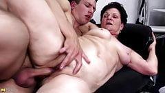 Grandma suck and fuck young big cock