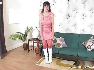 Ann curry pantyhose Big tits brunette kate anne masturbates in pantyhose boots