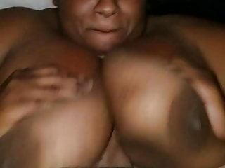 Huge dick titty fuck - Huge black tits titty fuck