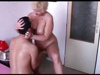 Flabby skinny boobs - Smily granny with flabby body guy