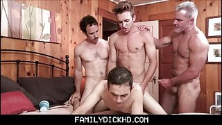 Twink Step Son Family Group Sex With Grandpa StepDad And Brother