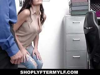 Asian shoplifting Shoplyftermylf - busty milf shoplifter blows security