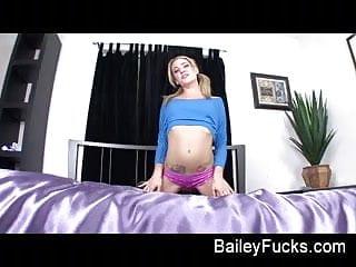 Bailey pussy Bailey blue masturbates