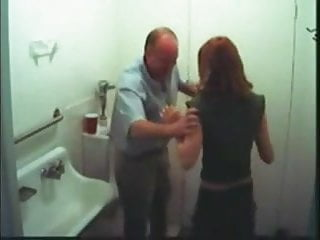 Working with the anal boss - Young assistant blows her boss in work toilet