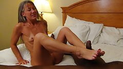 Milf Gives Blow Job and Foot Job