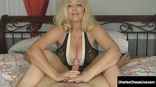 Handjob Hottie Charlee Chase Jacks You Off & Milks Your Cock