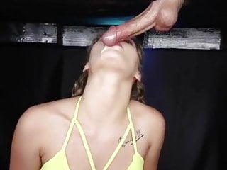 Tongue in my penis hole Tongue milking cumshot