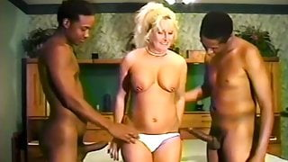 JAN B - Double Penetration Threesome with BBC Charles