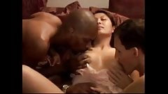 Hubby films his wife's first gangbang