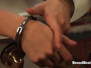 Gay shaving slave Doa 2: busty maid wash and shaves handcuffed slave