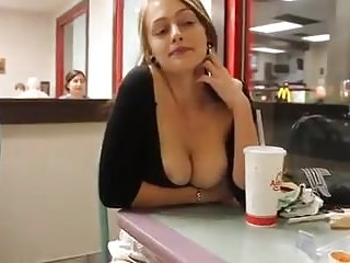 Teen no food Fast food tits out