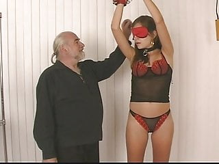 Teen tits ass perched Young brunette bdsm girl with perfect tits, ass, and shaved pussy is restrained