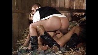 Farmer Girl fuck 2 guys