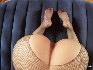 Cool ass pic Teen babe with a cool booty in mask and pantyhose fucks pov