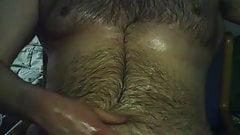 Oil massage masturbation