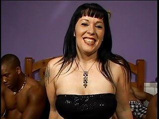 Bang big cock gang interracial - Milf brunette enjoying a gang-bang