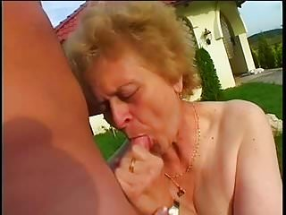 Granny with small tits
